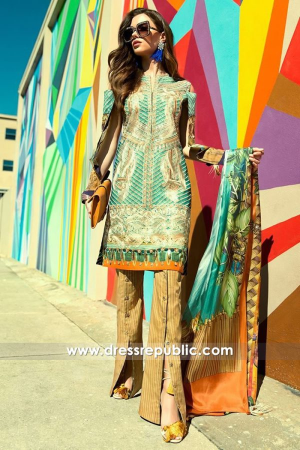 DRP7322 Pakistani Designer Lawn Suits Hicksville, Jackson Heights, New York