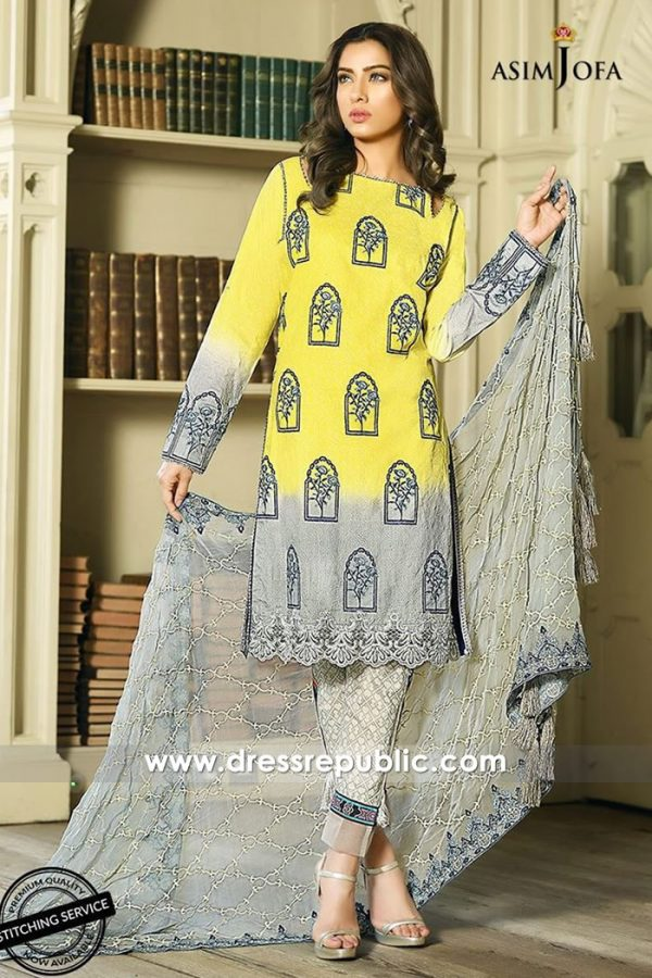 DRP7336 Asim Jofa Lawn Collection 2018 With Price, Stitching & Delivery