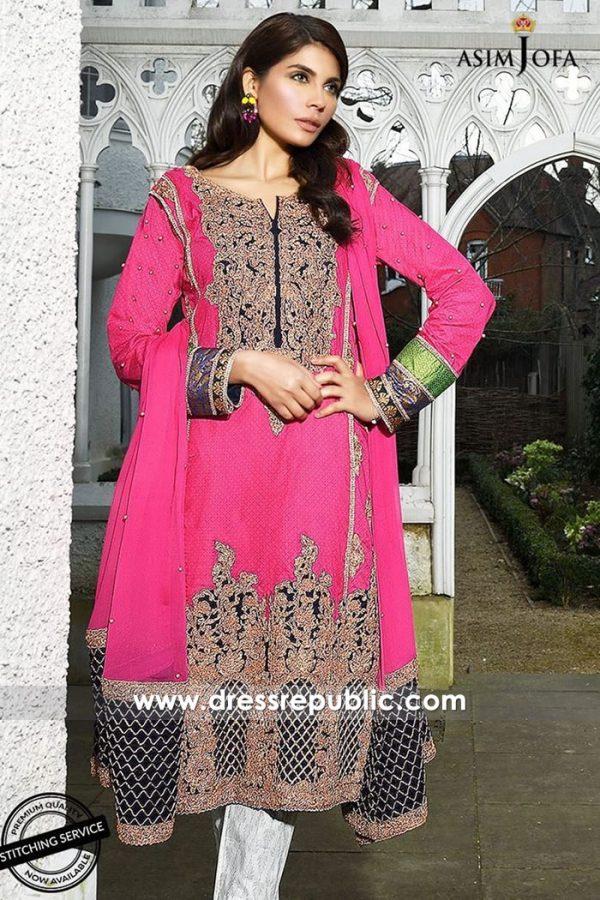 DRP7340 Lawn Suits Online Pakistan Designer Asim Jofa Luxury Lawn 2018