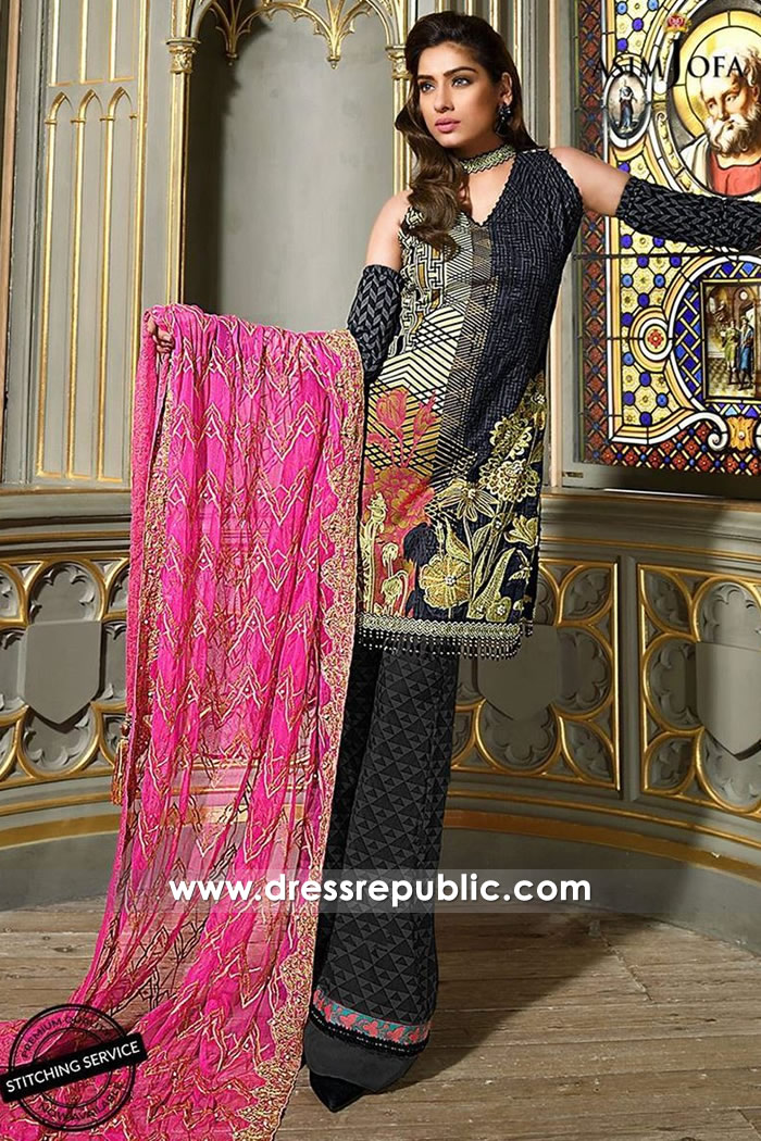 DRP7345 Asim Jofa Luxury Lawn 2018 Chicago, Sacramento, San Francisco