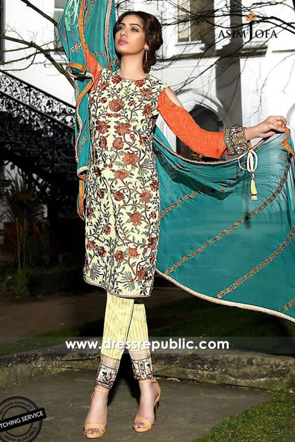 DRP7347 Asim Jofa Luxury Lawn 2018 Newcastle Upon Tyne, Stoke-on-Trent