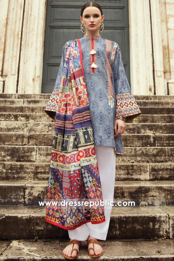 DRP7372 Pakistani Designer Lawn Suits 2018 Collection by Zara Shahjahan