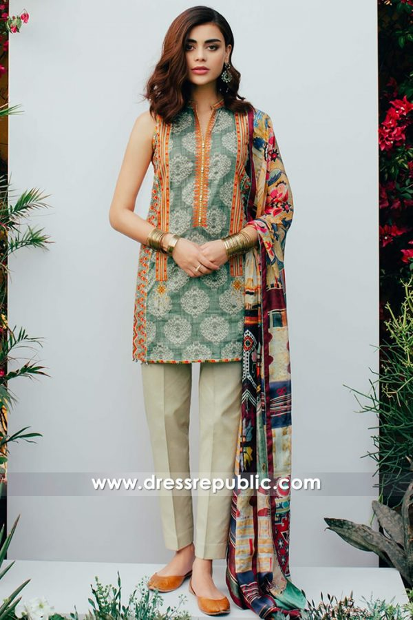 DRP7373 Zara Shahjahan Lawn 2018 With Price Stitching International Delivery