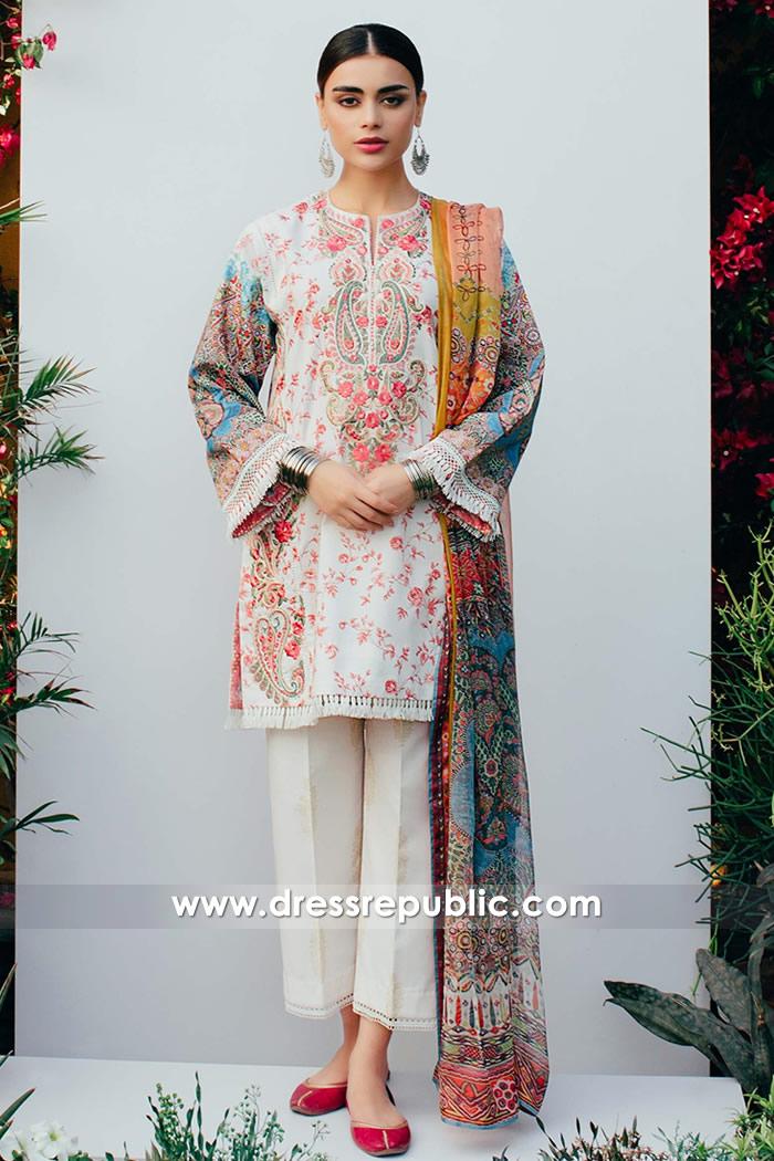 DRP7375 Pakistani Designer Lawn Suits 2018 Sacramento, San Francisco CA
