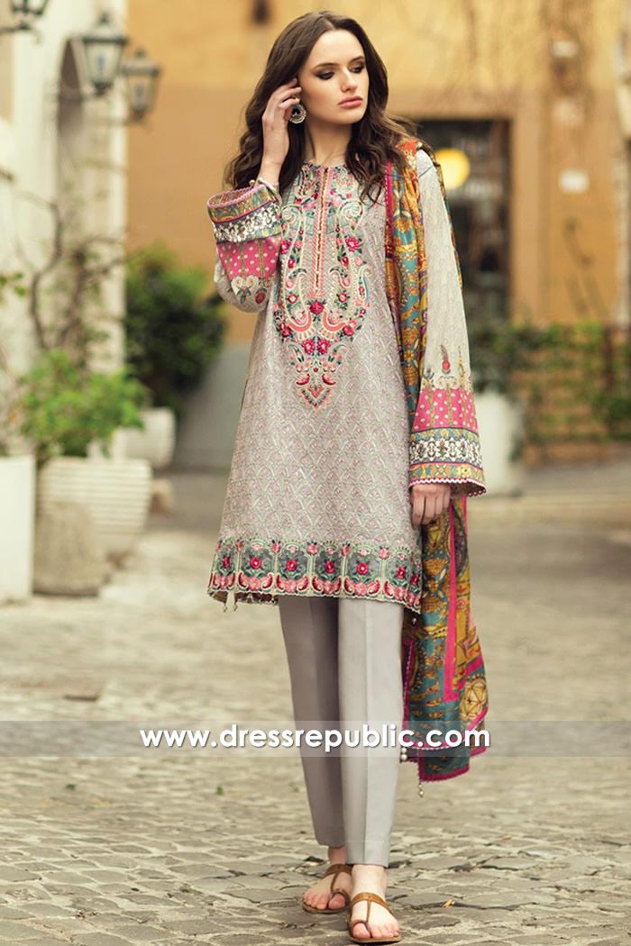 DRP7380 Pakistani Designer Lawn Suits 2018 Online Shop USA, UK, Canada