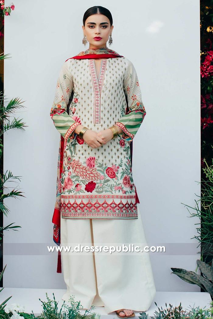 DRP7385 Zara Shahjahan Lawn 2018 Sydney, Perth, Melbourne, Adelaide