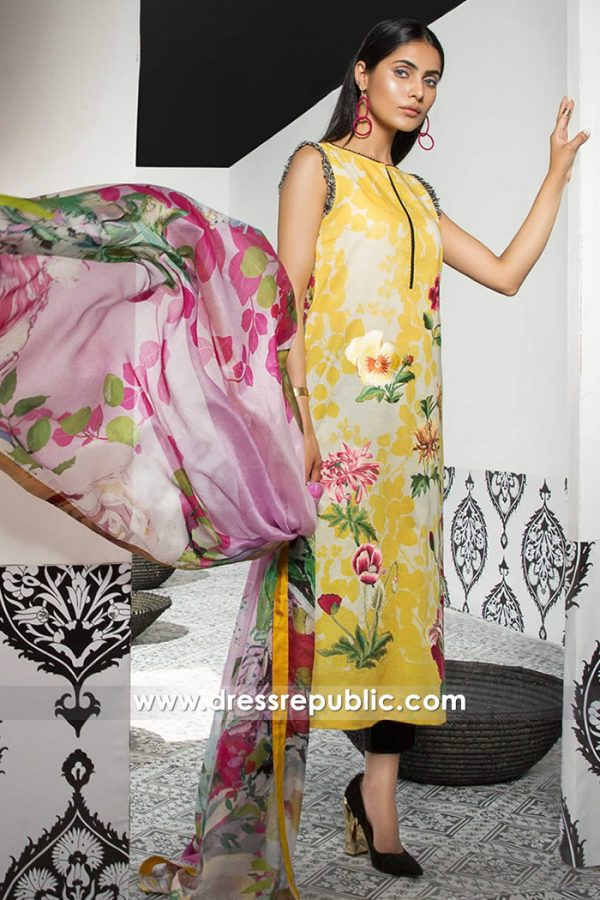 DRP7394 Buy Pakistani Designers Lawn Suits 2018 Online in London, UK