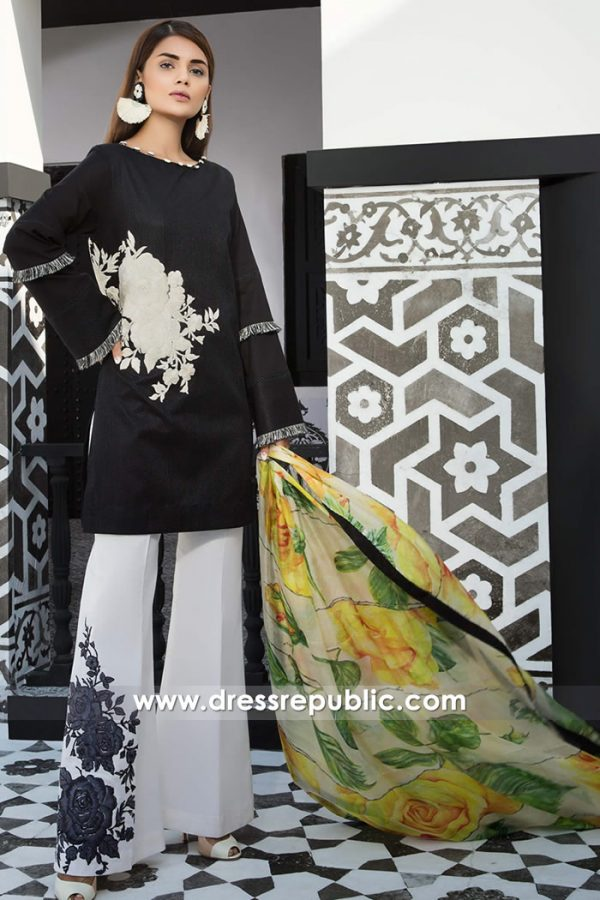 DRP7395 Buy Pakistani Designers Lawn Suits 2018 Online in Toronto, Canada