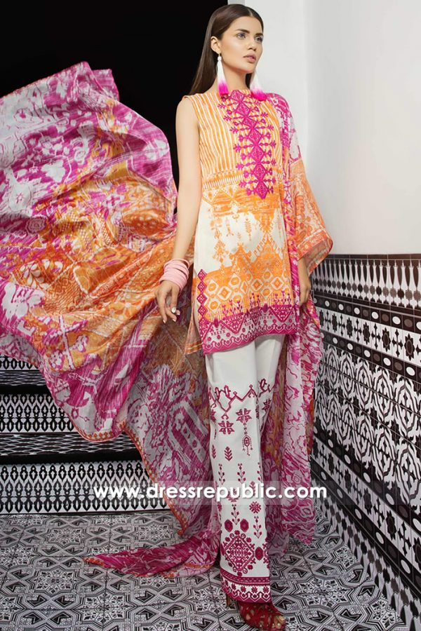 DRP7397 Cheap Lawn Salwar Kameez Printed Salwar Suits UK by Mahgul