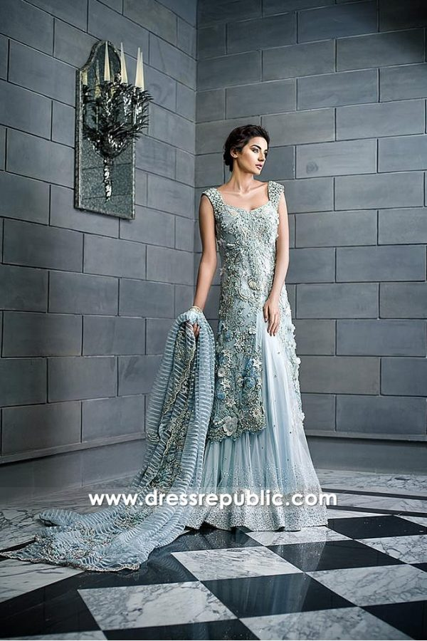 DR14593 Dress for Engagement Bride, Desi Bridesmaid, Valima Bridal Dress