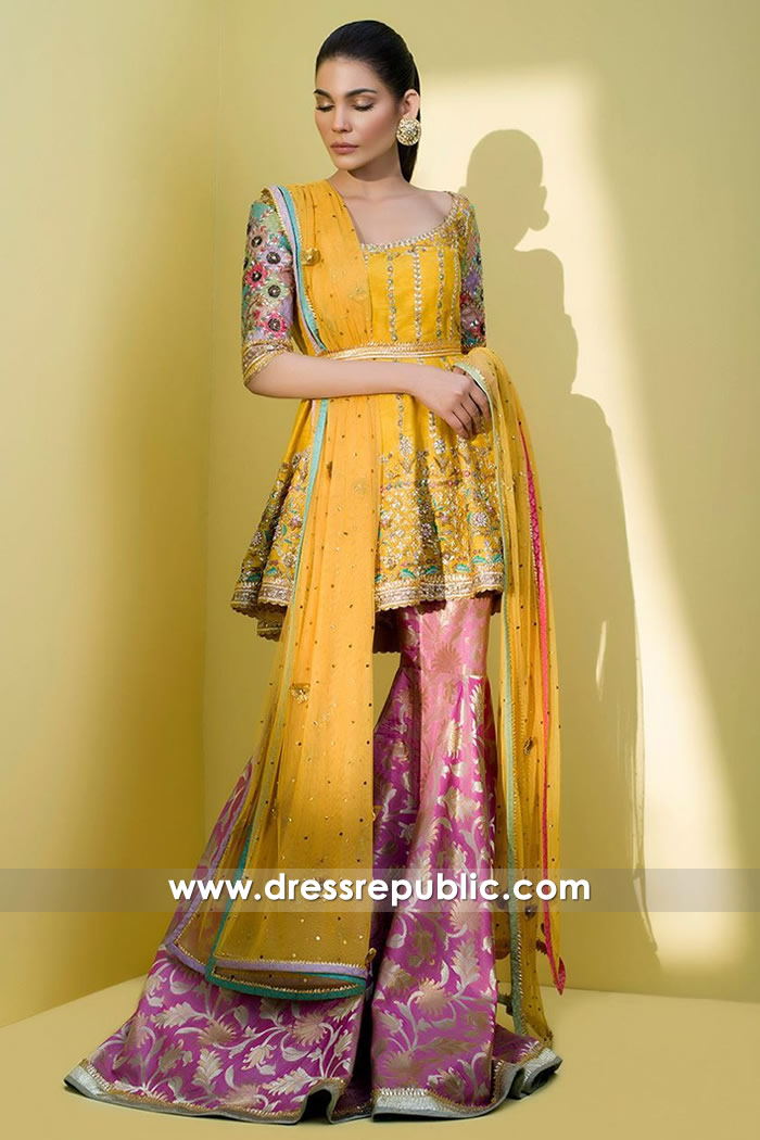 9e336152376 DR14614 Indian Wedding Guest Dresses - Dress for Mehndi