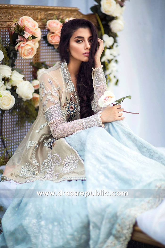 DR14650 Desi Engagement Dress 2018, Pakistani Engagement Bride Dress