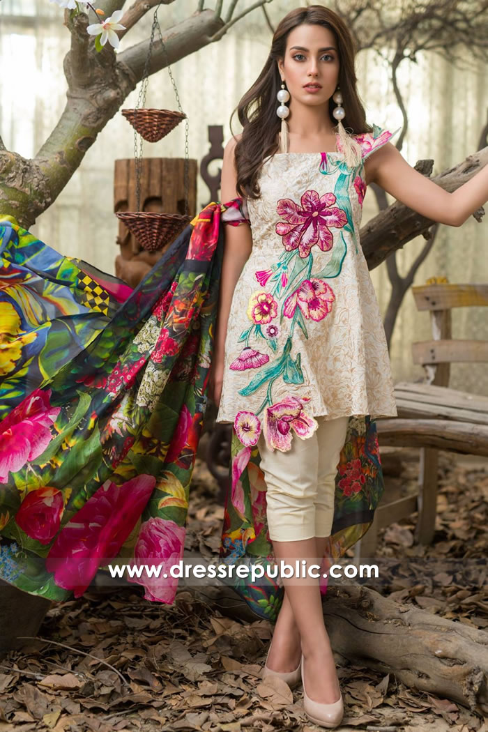 DR7490 Asifa Nabeel Lawn SS18 Vol 2 With Price, Stitching & Worldwide Delivery
