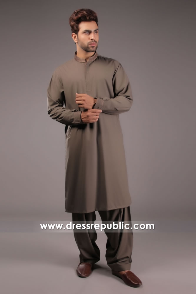 DRM5158 Embroidered Men's Kurta For Eid in Los Angeles, New York, New Jersey