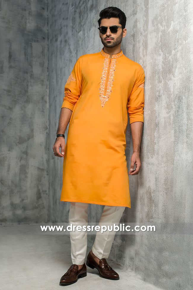 DRM5184 Henna Night Groom Yellow Kurta White Shalwar USA, Canada, UK
