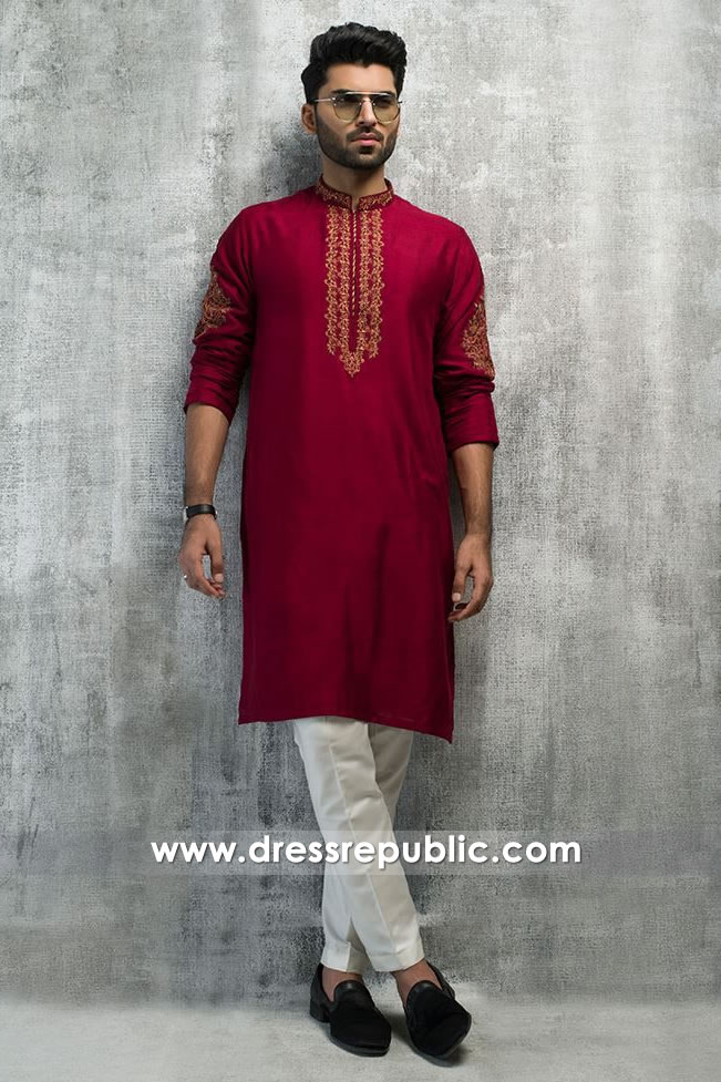 DRM5187 Kurta Salwar for Sangeet Party, Mehndi Night Men's Kurta Shalwar
