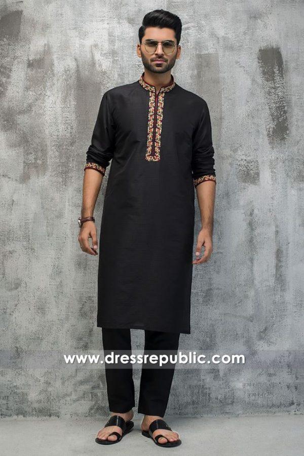 DRM5189 Formal Kurta Shalwar for Men for Nikkah Function, Mehndi Function