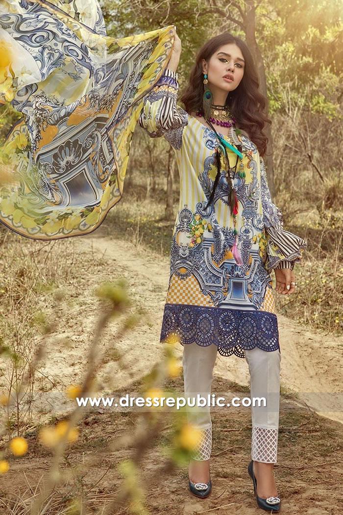 DRP7465 Maria B Lawn MPrints 2018 Dubai, Abu Dhabi, Sharjah, Fujairah, UAE