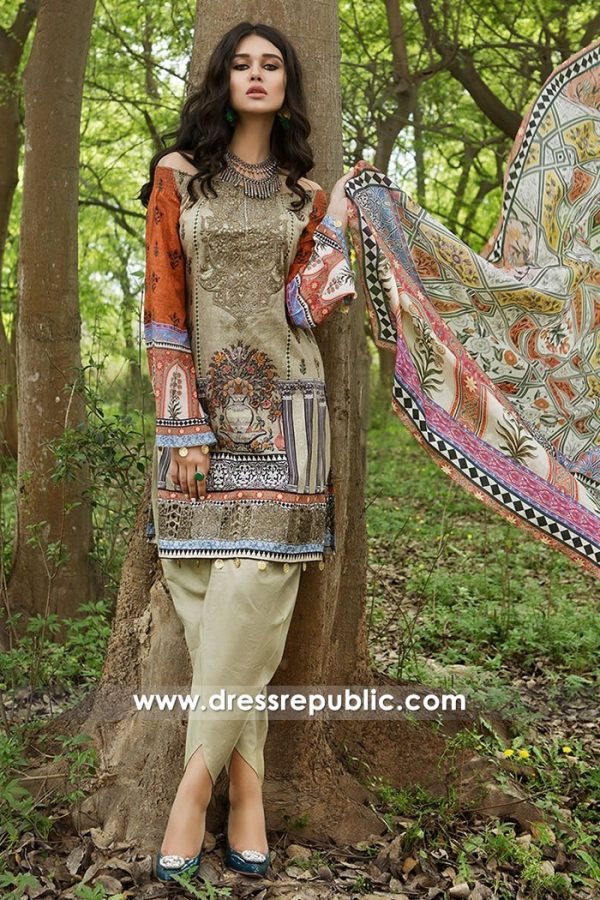 DRP7466 Maria B Lawn 2018 Catalogue With Price Buy Online at Dress Republic