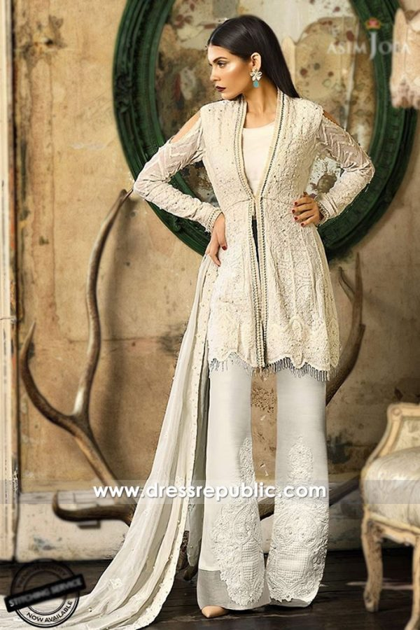 DRP7480 Asim Jofa Embroidered Eid Collection 2018 USA, UK, Canada, Australia