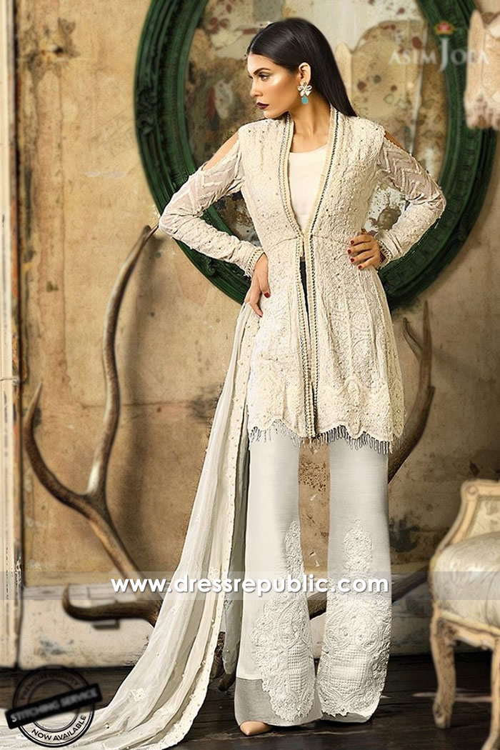 DRP7480 Asim Jofa Embroidered Eid Collection 2018 USA, UK, Canada, Australia