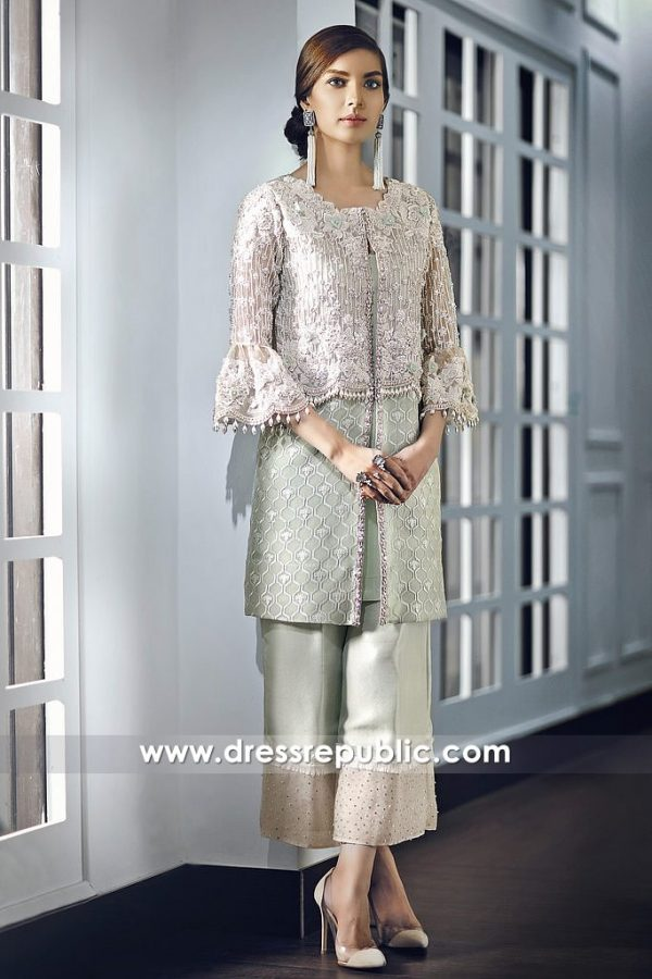 DR14684 Pakistani Designer Eid Dresses 2018 Norway, Denmark, Sweden, France