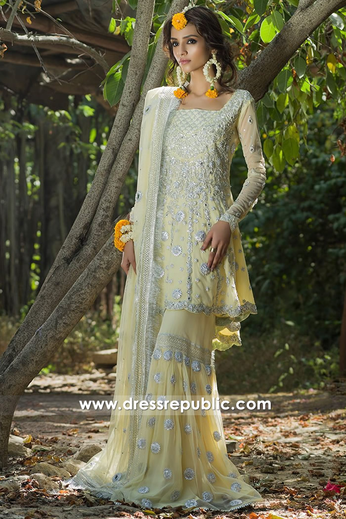 DR14701 Sharara for Engagement Bride London, Manchester, Birmingham, UK