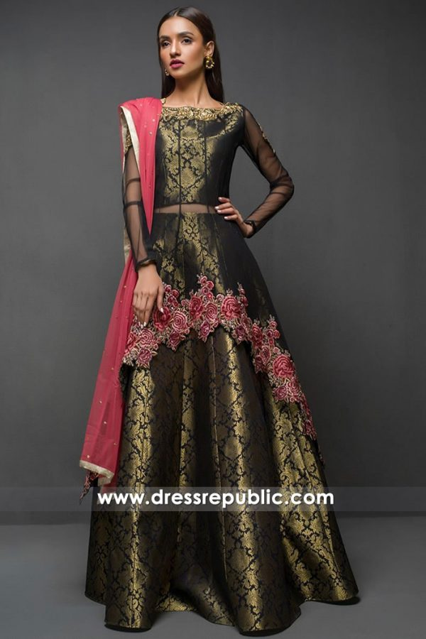 DR14710 Zainab Chottani Black Lehenga Choli Houston, Dallas, San Antonio, TX