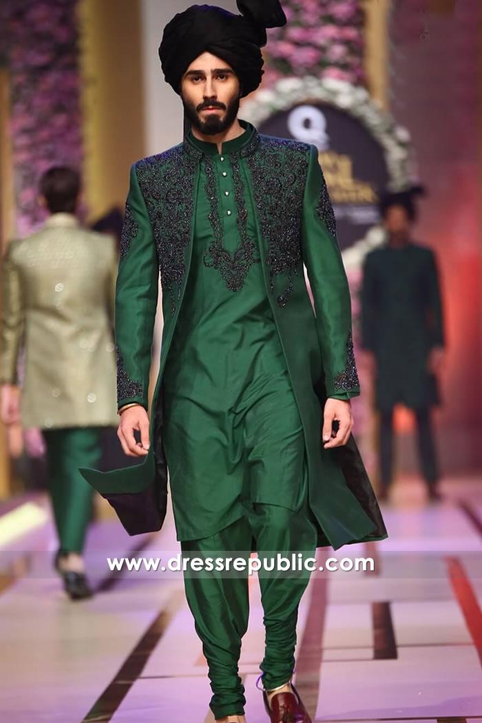 Green Sherwani , DRM5200