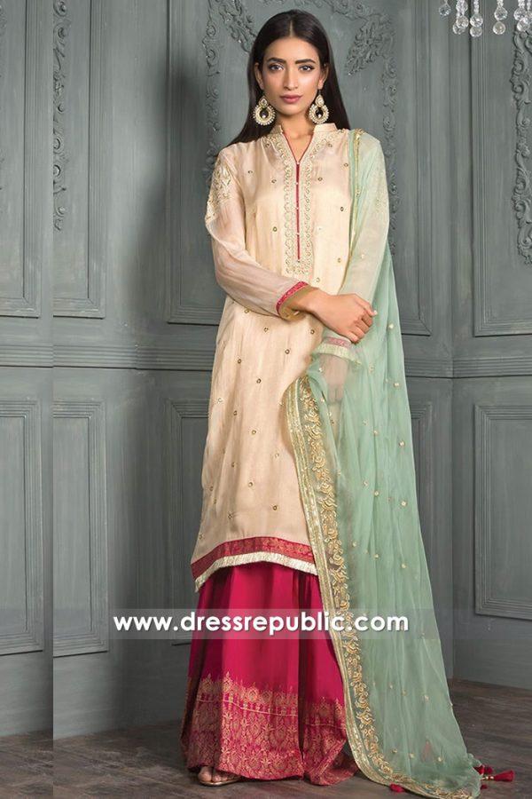 DRP7566 Pakistani Lawn Suits for Ramadan Eid 2018 - Chiffon, Jacquard, Net Suits