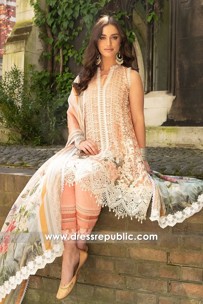 DRP7644 Pakistani Designer Chiffon Dresses Eid 2018 USA, UK, Canada, Australia