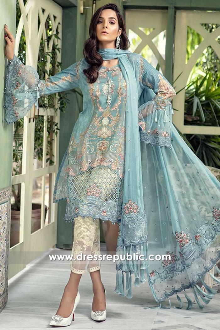DRP7670 Maria B Lawn Eid Collection 2018 USA, Canada, UK, Australia Online