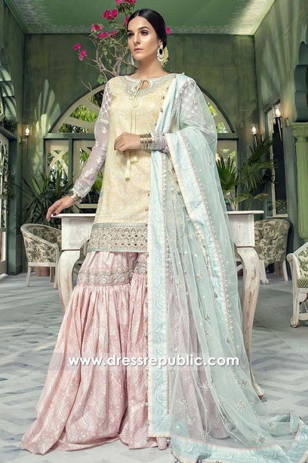 DRP7671 Maria B Lawn Eid Collection 2018 Gharara Sharara Lehenga Styles