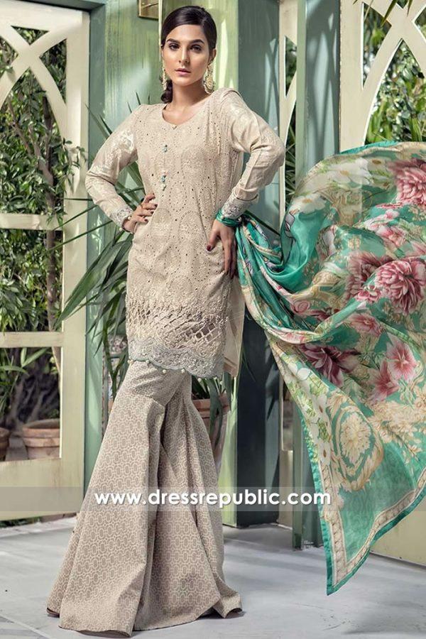 DRP7673 Maria B Lawn Eid Collection 2018 Saudi Arabia, UAE, Bahrain, Dubai