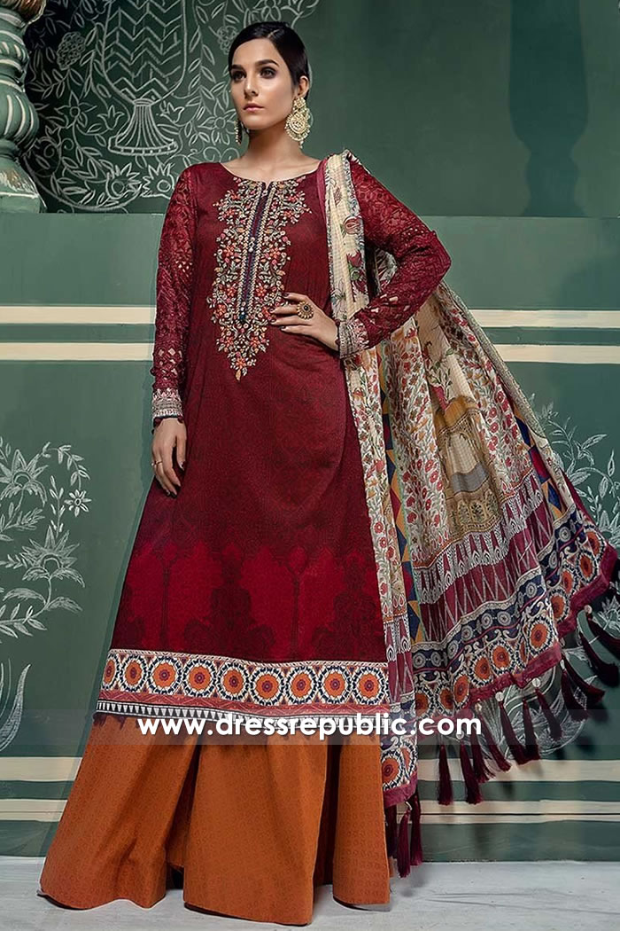 DRP7674 Maria B Lawn Eid Collection 2018 London, Manchester, Birmingham