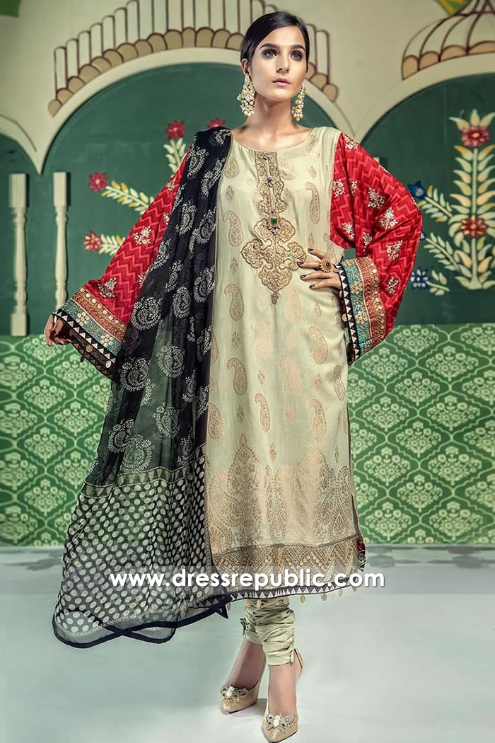 DRP7676 Maria B Lawn Eid Collection 2018 California, New York, New Jersey, Ohio
