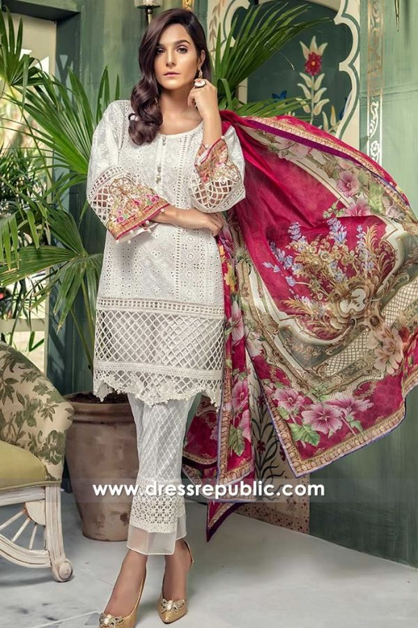 DRP7679 Maria B Lawn Eid Collection 2018 Virginia, Maryland, Arizona, Colorado