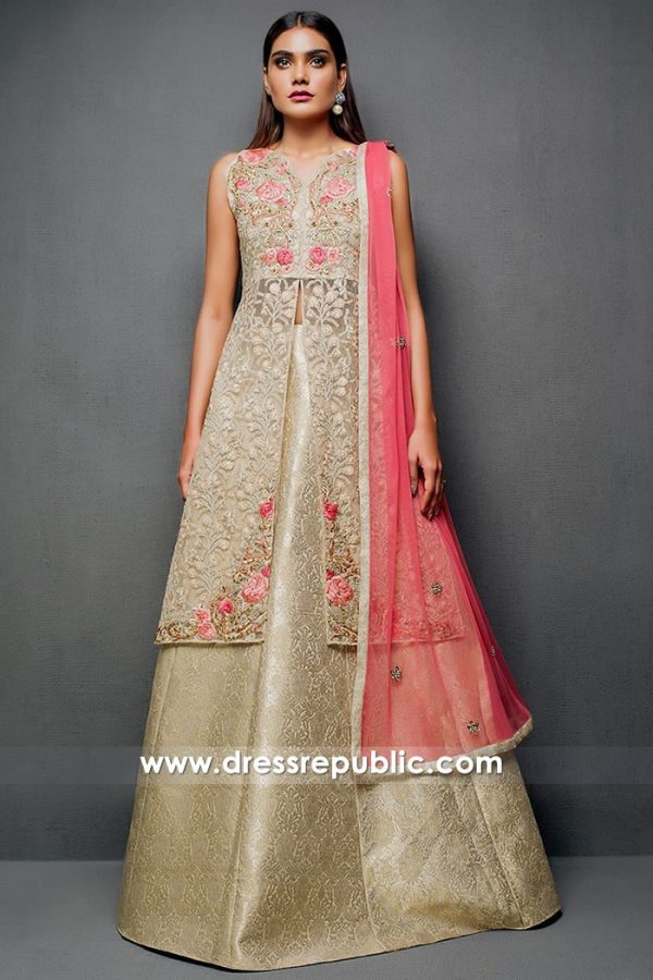 DR14717 Champagne Gold Lehenga Online Dallas Fort Worth, Houston, Austin, TX