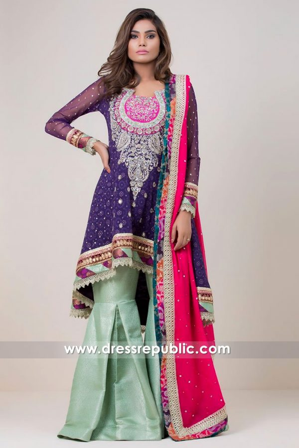 DR14725 Indian & Pakistani Heavy Formal Dresses 2018 New York, New Jersey
