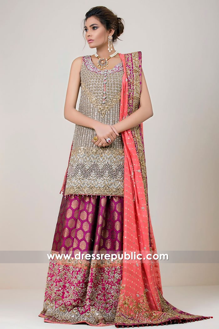 DR14728 Zainab Chottani Bridal Collection 2018 USA, Pakistani Designer Lehenga