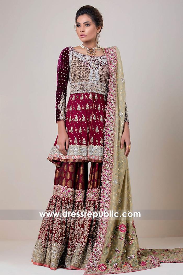 DR14729 Zainab Chottani Bridal Collection 2018 UK, Pakistani Designer Gharara