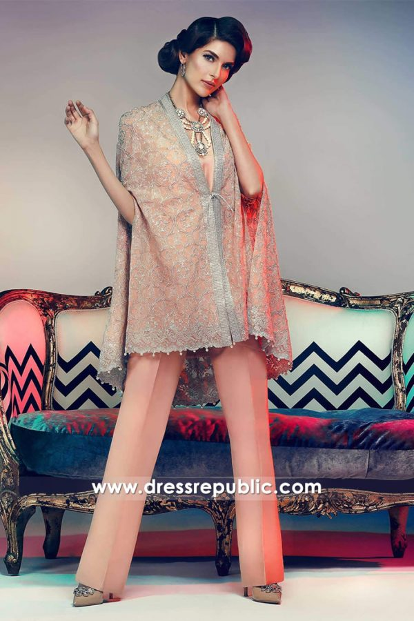 DR14738 Designer Poncho Dresses UK, Poncho Kurtis UK, Pakistani Ponchos UK