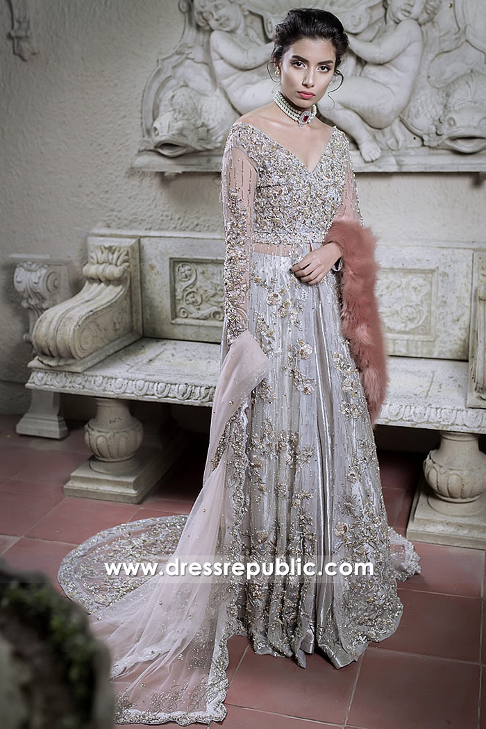 DR14794 Khawer Iqbal Designer Bridal Dresses 2018 Collection USA, UK, Canada