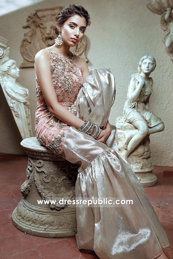 DR14796 Asian Wedding Guest Dress UK, Asian Wedding Party Wear Dresses 2018