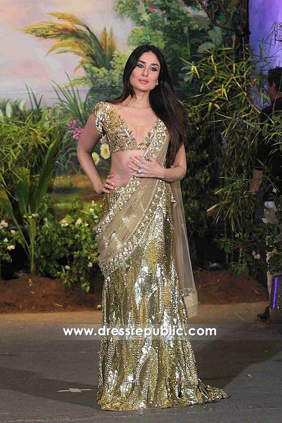 DRC1001Kareena Kapoor Sonam Kapoor Wedding Reception Saree Buy Online