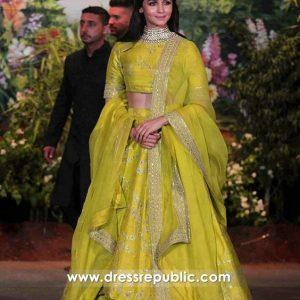 DRC1003 Alia Bhatt Lehenga at Sonam Kapoor Wedding Buy in USA, UK, Canada