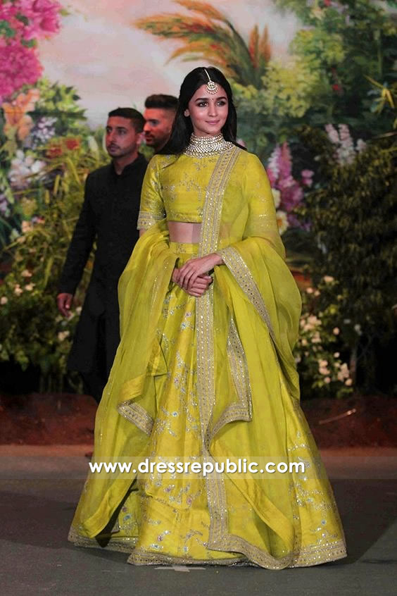 DRC1003 Alia Bhatt Lehenga at Sonam Kapoor Wedding Buy in USA, UK, Canada