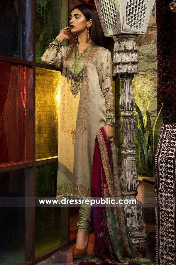 DRP7706 Maria B Silk Eid Collection 2018 Toronto, Mississauga, Vancouver, Calgary