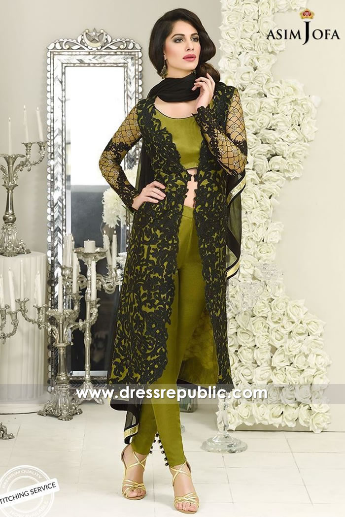 DRP7710 Asim Jofa Chiffon Eid 2018 Collection USA, Canada, UK, Australia