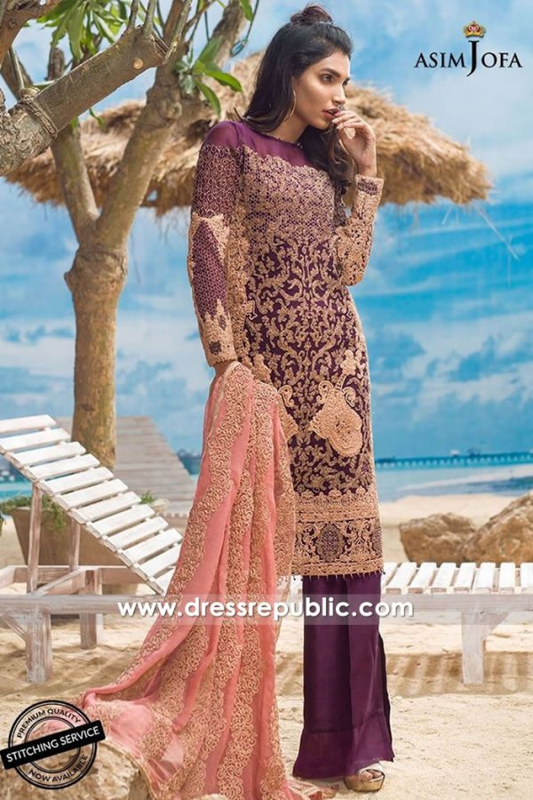 DRP7716 Asim Jofa Chiffon Eid 2018 Collection Dubai, Abu Dhabi, Sharjah